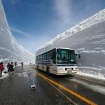 Снегопад в префектуре Тояма в Японии