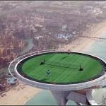 Теннисный корт на вершине небоскреба