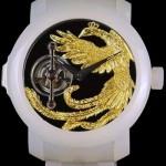 Longio Mythos - часы из белого нефрита